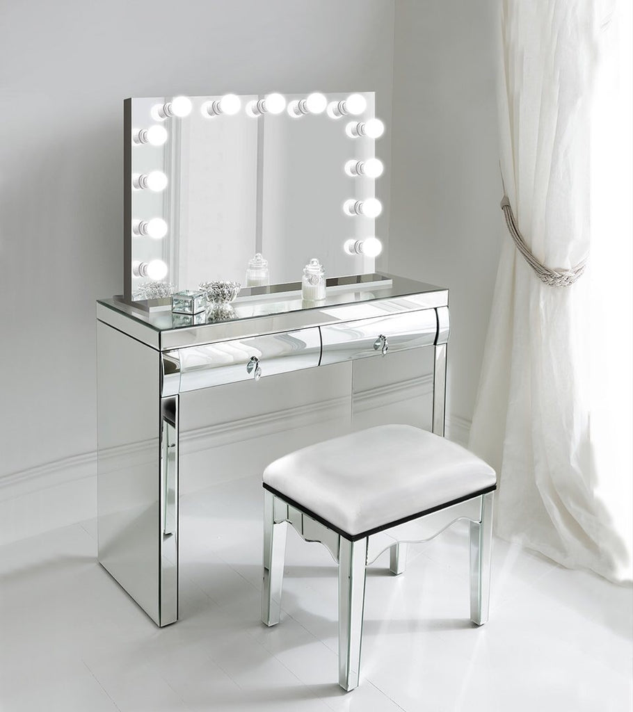 Makeup Vanity.Monroe 31 X 25 Lighted Glam Vanity Mirror Led All Mirror Makeup Hollywood Mirror Table Top Or Wall Mount Plug In