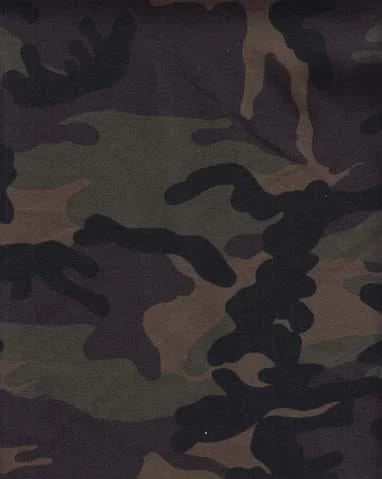 Camo Army Jersey Knit Stretched Fabric Headwrap