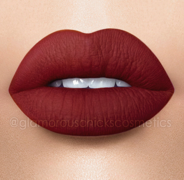 Red wine 12 hour stay Long lasting  Matte Liquid lipstick