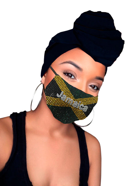 Jamaica headwrap and mask