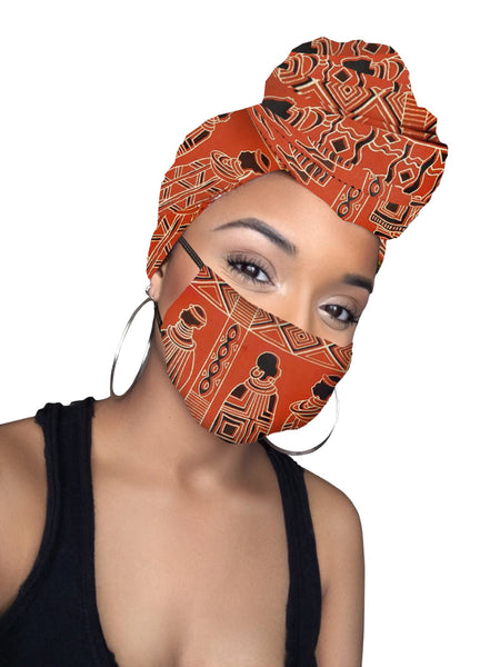 Kitwana Headwrap and Face Mask combo