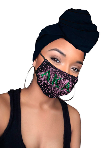 Aka Headwrap and Face Mask combo