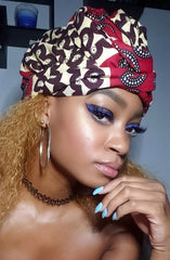 Kesia Slip On Satin Lined Headwrap and Mask