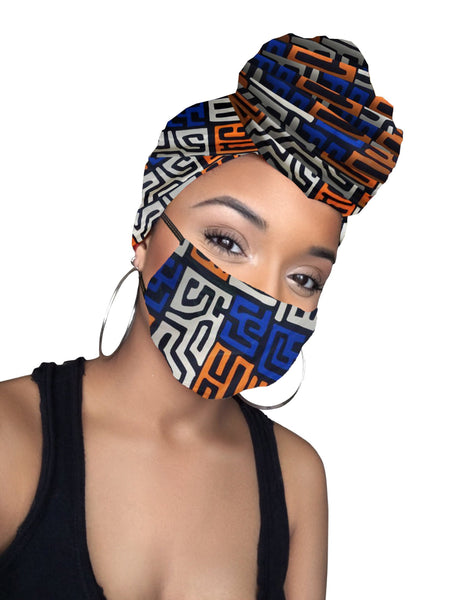 Obena Headwrap and Face Mask combo