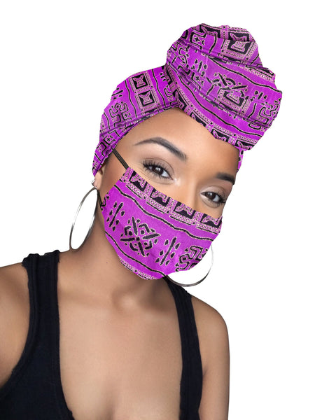 Kosi Headwrap and Face Mask combo