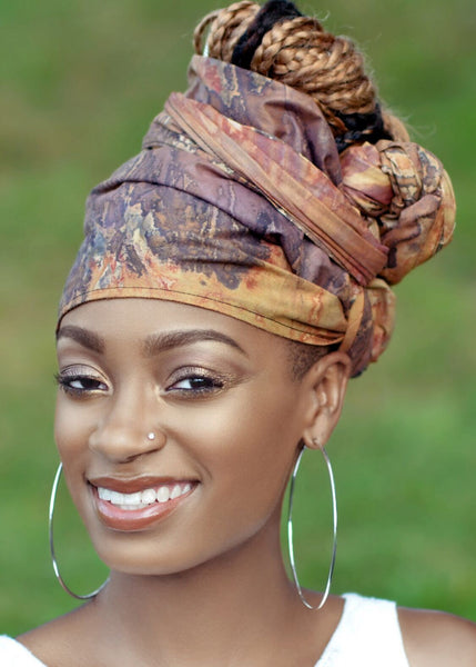 Brown Adele headwrap