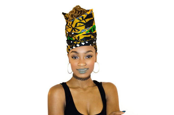 Zimani Headwrap and Face Mask combo