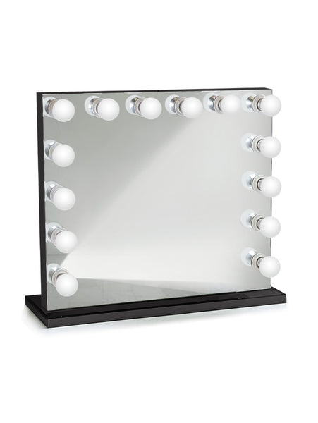 Curaçao Black Dimmable Hollywood mirrors| Table Top Or Wall Mount | Plug-in