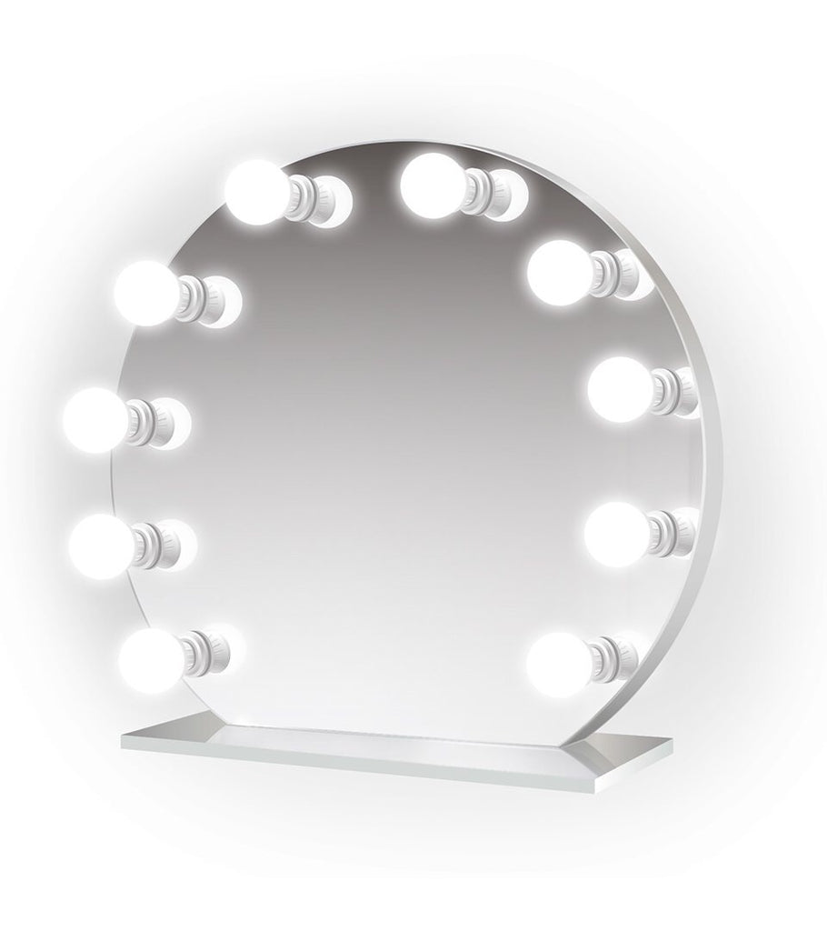 Iris 28x25 Curved Lighted Glam Vanity Mirror Led Makeup Hollywood