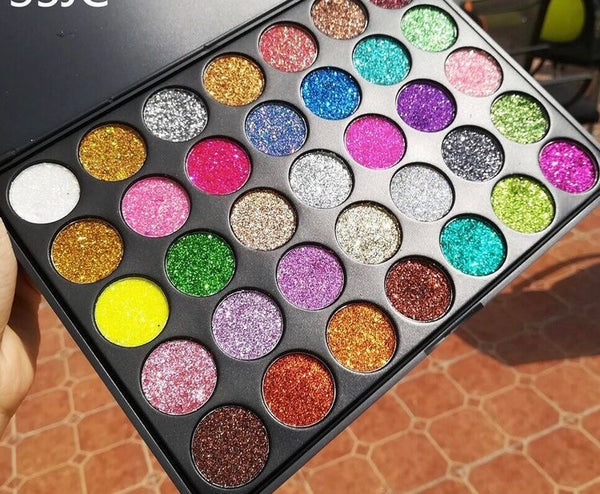 35 color Limited Edition glitter eyeshadow palette