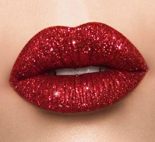Boss lady Holiday red glitter lipstick collection