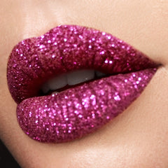 Merlot and purple passion glitter lips