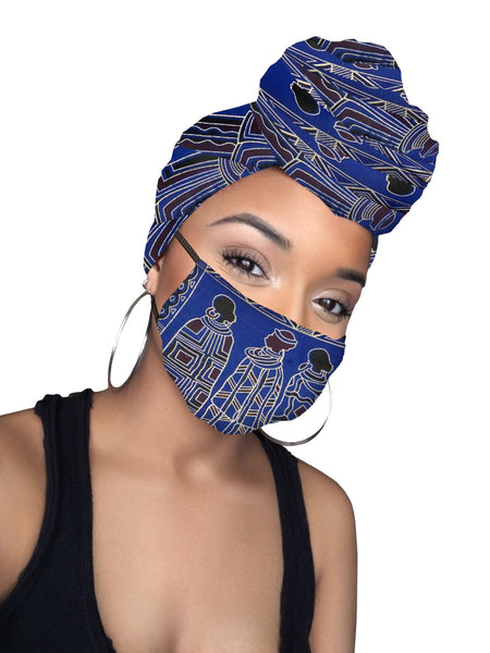 Kacely  Headwrap and Face Mask combo
