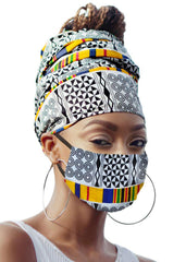 Whitney Headwrap and Face Mask combo