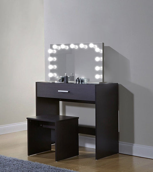 "Monroe 31"" x 25"" Lighted Glam Vanity Mirror 