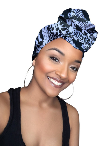 Johanna Stretched fabric Headwrap and Face Mask combo