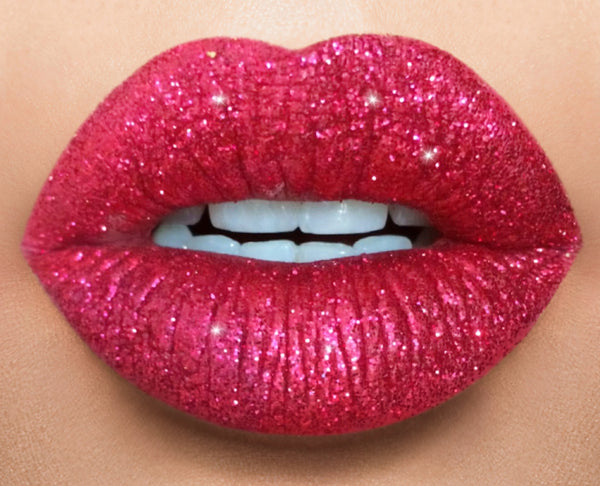 Holiday Red glitter lip collection/ boss lady & red glitter