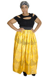 SKIN & HAIR CARE -  - Yellow Maxi African Skirt - Glamorous Chicks Cosmetics - 1