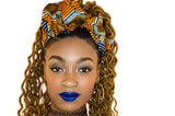 Orange & Blue Goddess Head wrap