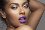 Purple Celeb - Waterproof, smudge proof,  transfer proof,  and 24 hour stay BLACK Matte Liquid lipstick - Glamorous Chicks Cosmetics