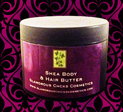 Large Coconut & Sea Salt Body Butter - Glamorous Chicks Cosmetics