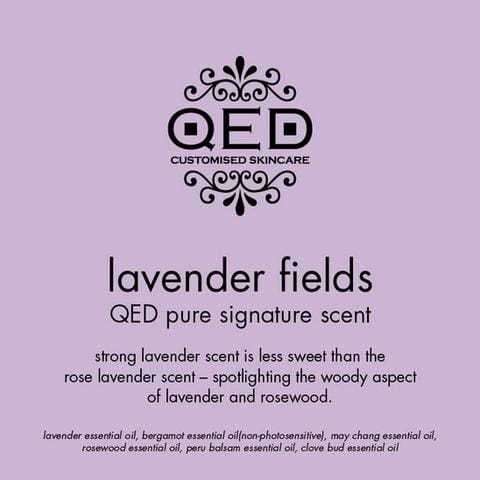 QED Skincare's Lavender Based Floral Scents