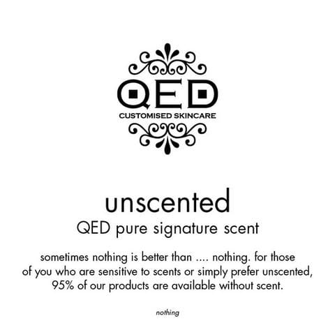 QED Skincare's Lavender-free Floral Scents