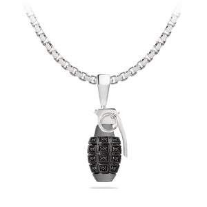 Black Diamonds Grenade Pendant, Yohan Rodrigani