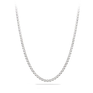 Large, Box Chain, 3.5 mm, Sterling Silver Chain, 18 karat Yohan Rodrigani signature tag