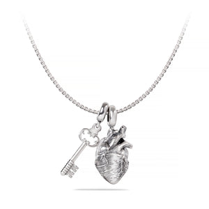 Passion is Key Set, Anatomical Heart and Key Pendant, Yohan Rodrigani