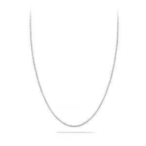 Small, Box Chain, 1.7 mm, Sterling Silver Chain, 18 karat Yohan Rodrigani signature tag