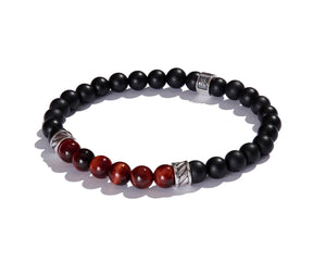 Infinita Bracelet with Forza, Black Onyx and Red Tiger's Eye