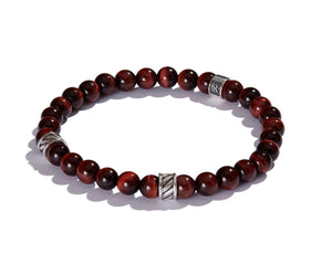 Infinita Bracelet with Forza, Red Tiger's Eye