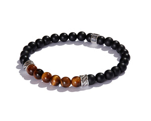 Infinita Bracelet with Forza, Black Onyx and Tiger's Eye
