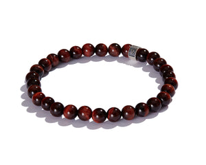 Infinita Bracelet with Signature Roundel, Red Tiger's Eye