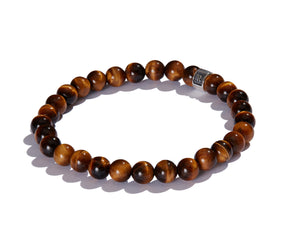 Infinita Bracelet with Signature Roundel, Tiger's Eye