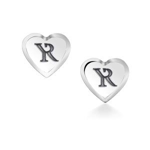 Sterling Silver Signature Heart Stud Earrings