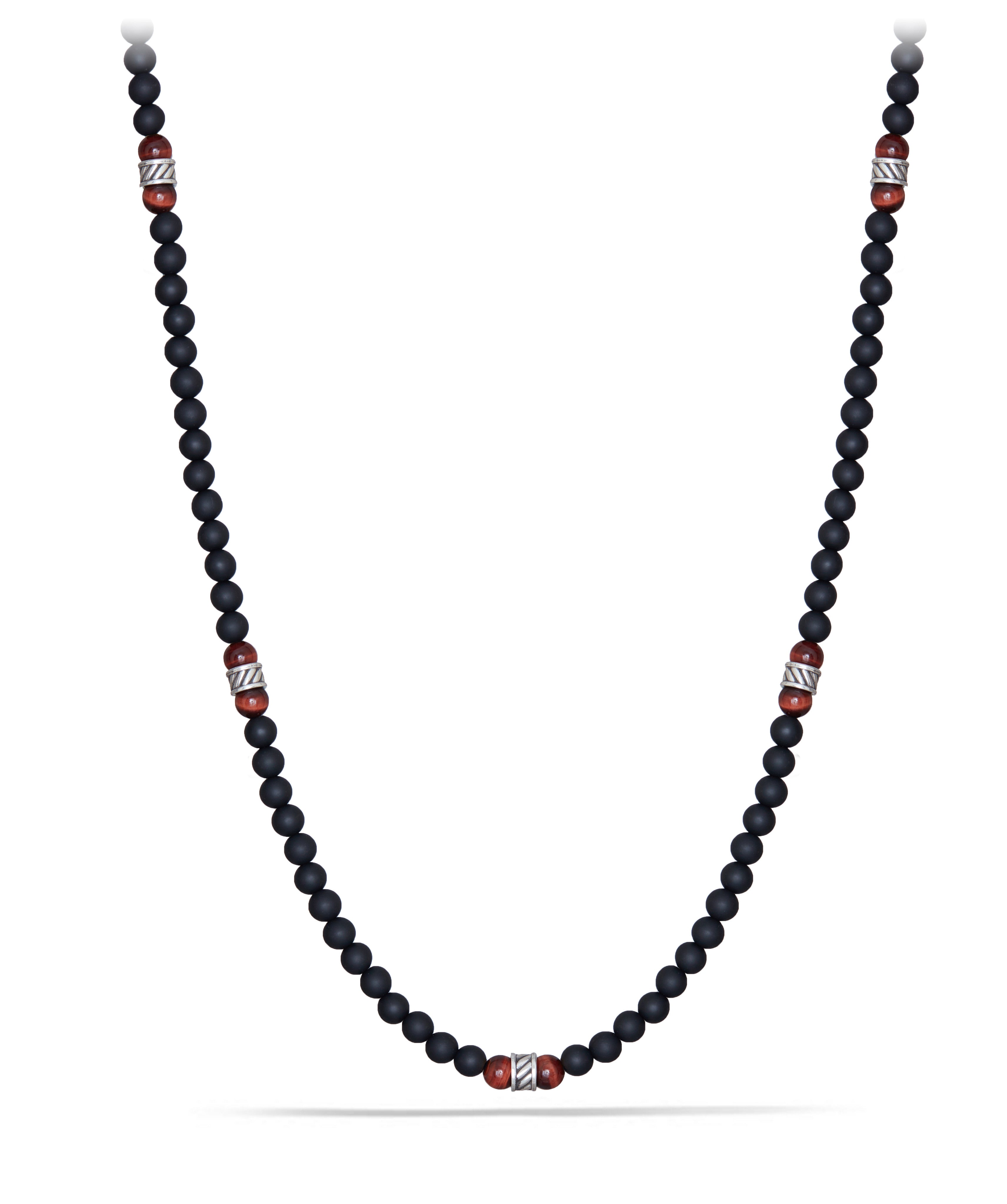 Spiritual Necklace with Forza, Red Tiger's Eye and Black Onyx