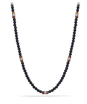 Spiritual Necklace with Forza, Yellow Tiger's Eye and Black Onyx