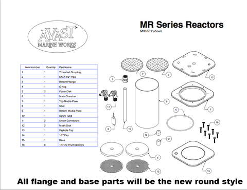 Fluidized Media Reactor Replacement Parts