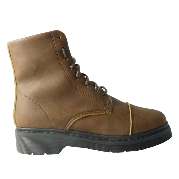 Doctor boot man cap toe Wool brown