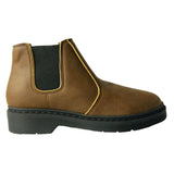 Doctor lady chelsea boot - Brown microfibre