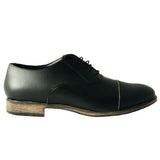 Lord cap toe Oxford - Black microfibre