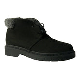 Annie derby high cut black microfibre suede