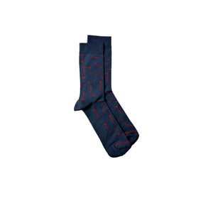 Bamboo MidCalf Socks - ARROW-Blue