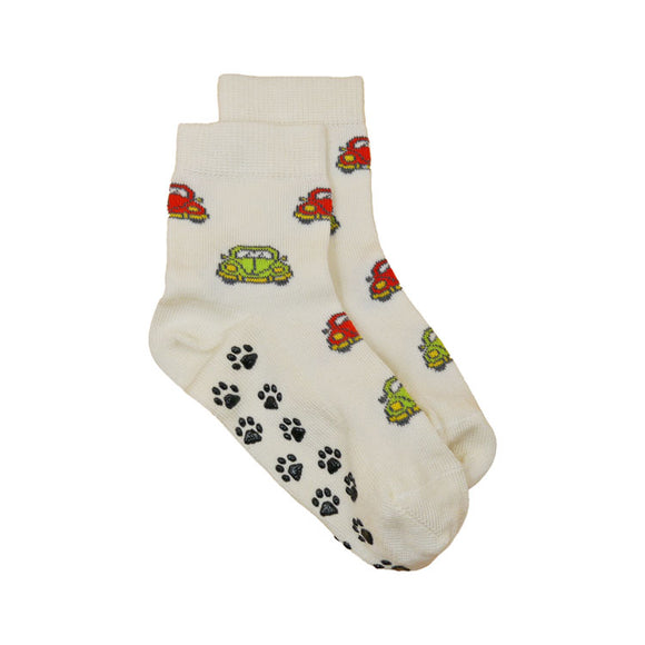 Kids Bamboo Non-Slip Socks - CARS