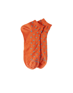 Bamboo socks funny pois orange