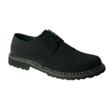 Kevin plain toe derby - Black vegan Nabuk