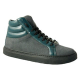 Olive high cut sneakers grey green