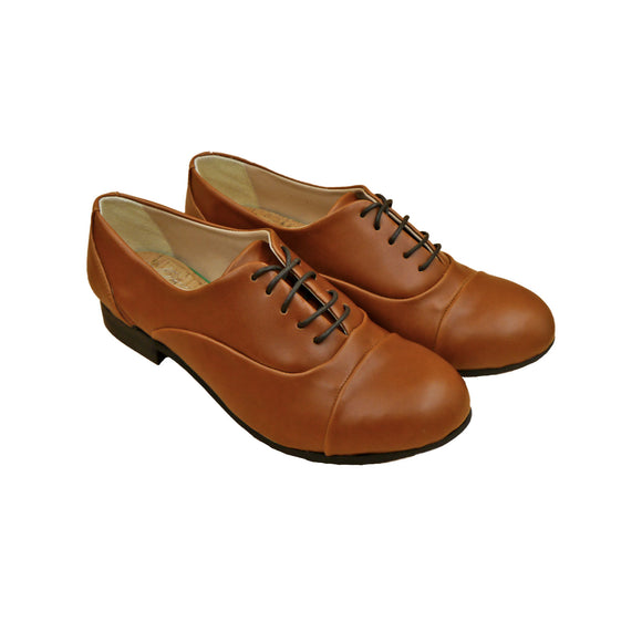 Vaty Charlot Flat Shoes - Brown